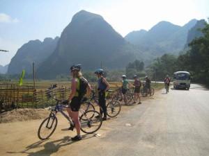 Fietsen Noord West Cambodja
