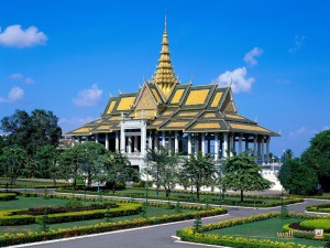 paleis tuin in Hoofdstad Cambodja