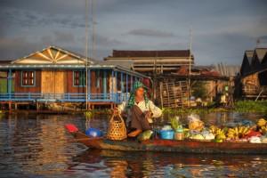 rondreis cambodja in dorpje